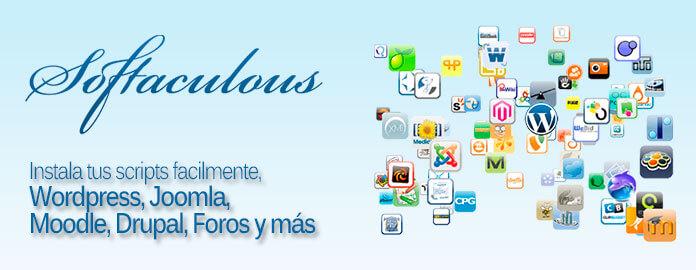imagenes webSoftaculous, permite la instalación de aplicaciones web con solo un click de botón.