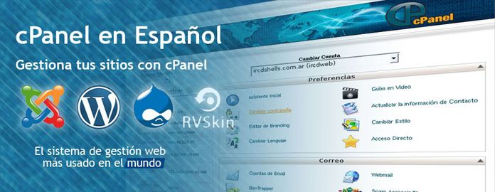 imagenes webCpanel en Español